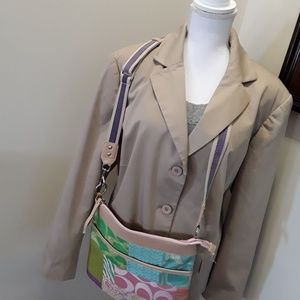 Rafaella Woman button front tan jacket lined 18W